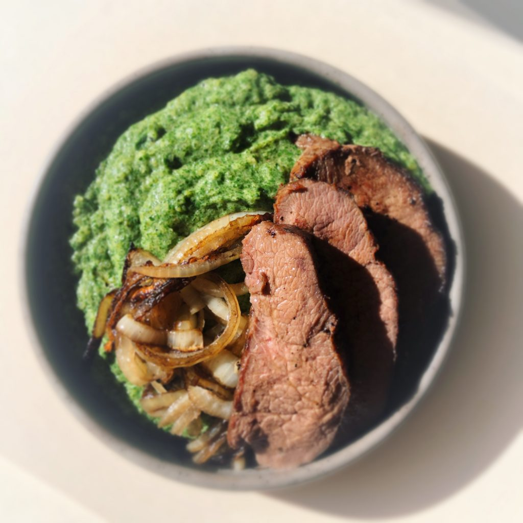 Venison with Wild Greens
