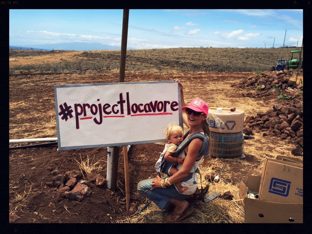 Photo taken at the OutGrow Monsanto event, the last day of Hawaii's Eat Local Challenge (#projectlocavore).